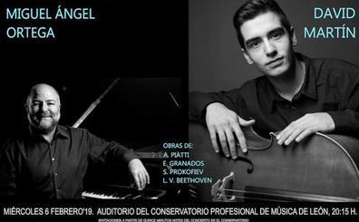 Concierto de David Martín y Miguel Ángel Ortega, el miéroles en el Conservatorio de León