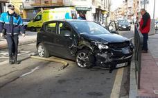 Herida una mujer en una colisión en la calle San Pedro de la capital leonesa