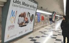 León promociona la ciudad, 'Manjar de Reyes' y la Semana Santa en 70 estaciones del Metro de Madrid