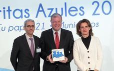 León consigue por segundo año consecutivo las tres 'Pajaritas Azules' por la excelencia en la gestión selectiva de papel y cartón