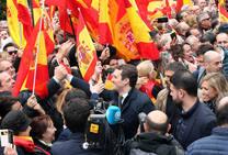 Concentración en Madrid bajo el lema 'Por una España Unida ¡Elecciones ya!'