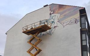 Astorga 'inicia' su tercer mural sobre la historia de la ciudad