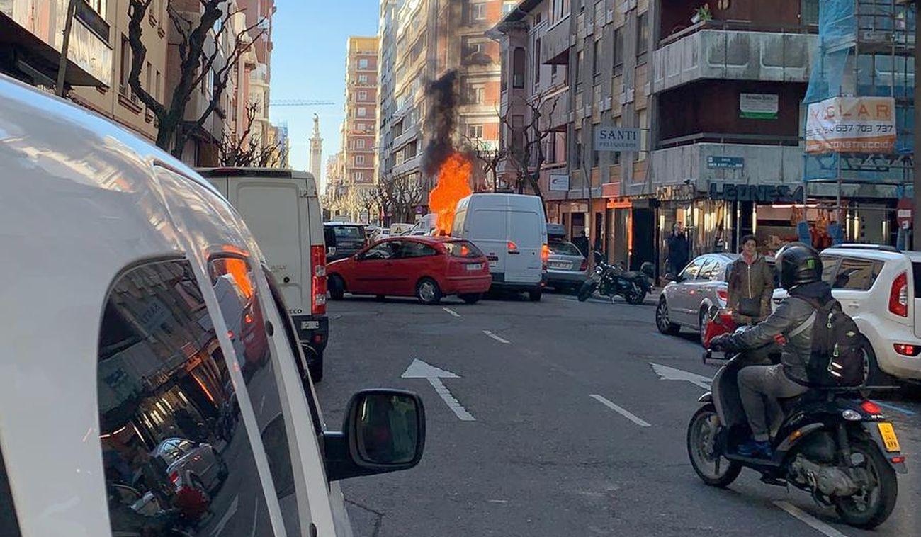 Fuego en Ramiro Valbuena