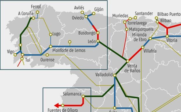 Imagen de los trabajos a desarrollar en el Corredor Atlántico, a su paso por la provincia./