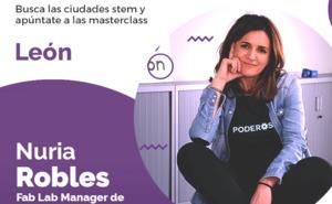 Nuria Robles, Manager del Fab Lab de León, imparte la cuarta masterclass del proyecto Stem Talent Girl en León