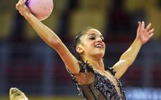 Sara Llana se despidió de la liga italiana estrenando su nuevo ejercicio de aro