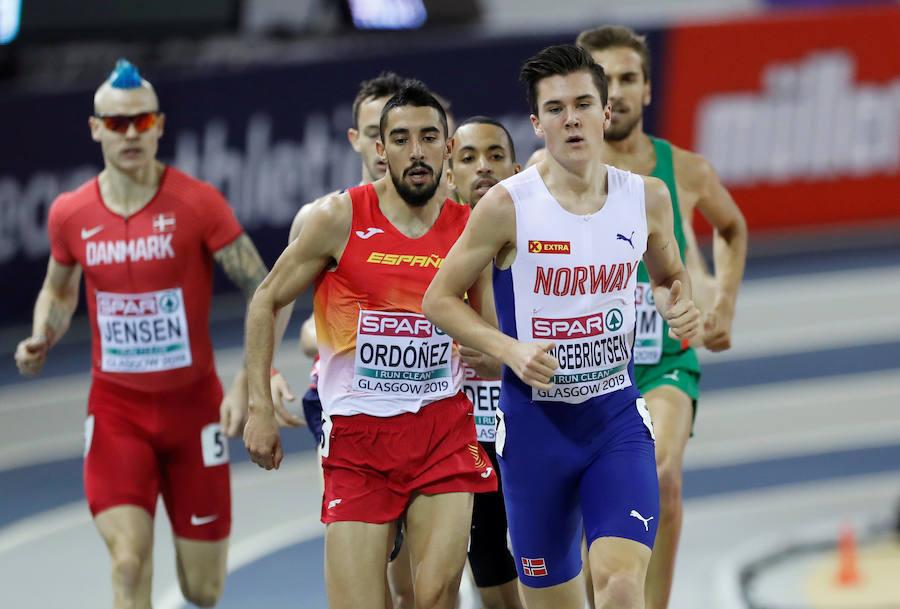 Saúl Ordóñez en la semifinal del Europeo de Glasgow