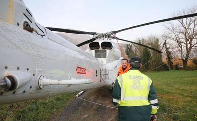 Al rescate del helicóptero