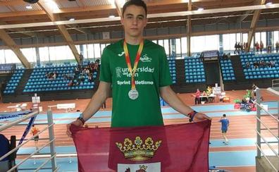 Daniel Amez, subcampeón nacional sub-20 en salto de longitud