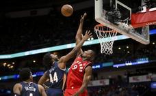 Ibaka fue decisivo en triunfo de los Raptors y Willy ayudó a los Hornets