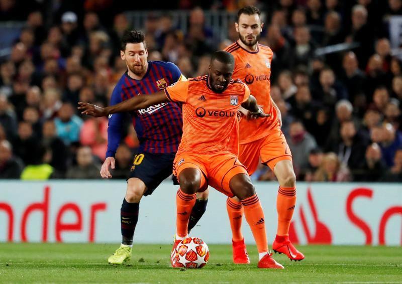Las mejores imágenes del Barcelona-Lyon