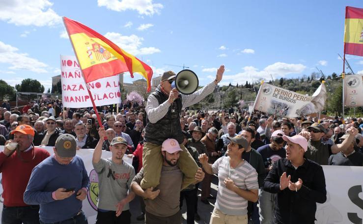 Manifestación en defensa de la caza