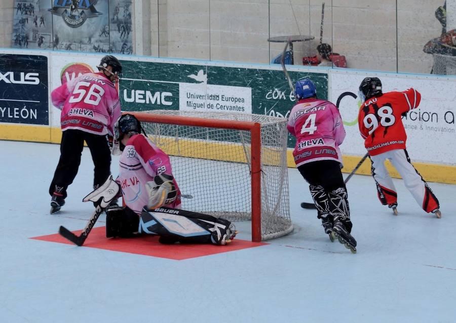 Partido del equipo leonés de hockey