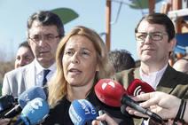 El presidente regional del PP presenta a la candidata del partido en San Andrés del Rabanedo
