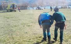 Rescatan a un montañero herido tras resbalar y caer por una pendiente en el Collado Jermoso