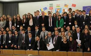 Peñacorada acoge por tercer año el encuentro nacional del Modelo Parlamento Europeo