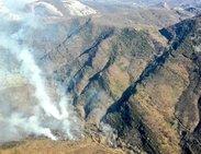 Incendio forestal en Valdepiélago