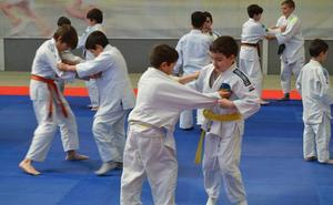 Exhibición de judocas infantiles en Peñacorada