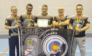 El club de tiro con arco de Ponferrada se hace con dos oros, una plata y un bronce en el Campeonato de Castilla y León