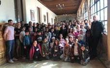 La Diputación recibe a los 24 niños rumanos, polacos, turcos y búlgaros que participan en un Erasmus+