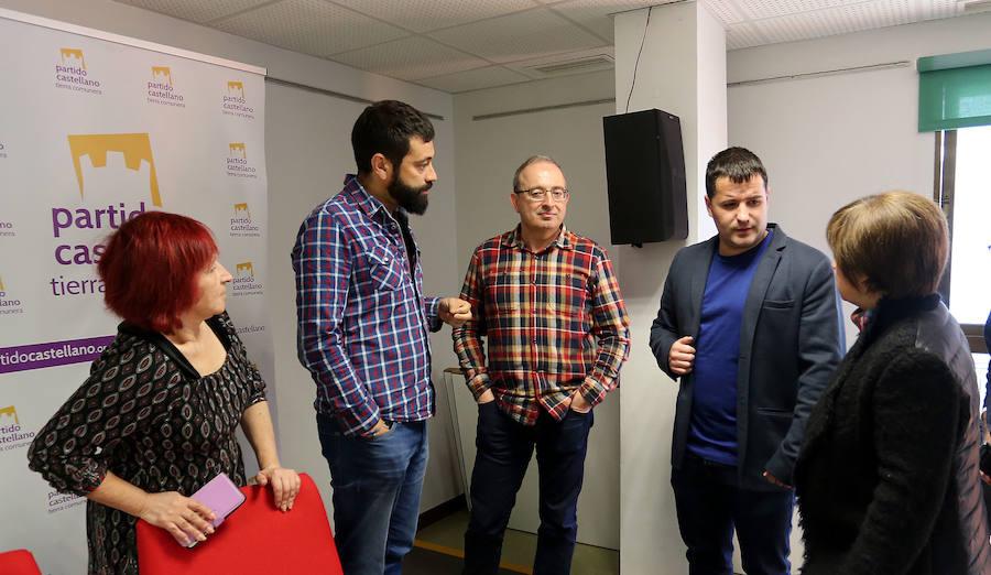 Presentación de la coalición IUCyL, Anticapitalistas, Alternativa Republicana y PCA-Tierra Comunera