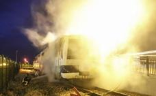 Susto en Feve: arde un vagón vacío estacionado en La Asunción
