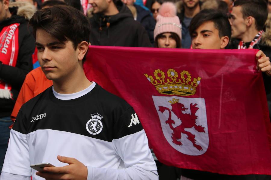 La afición de la Cultural camina al Reino de León