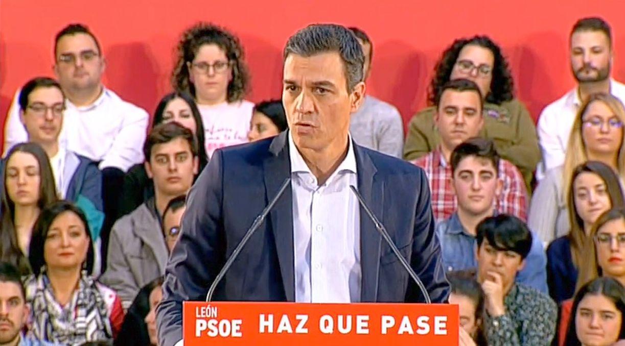 Sánchez aboga por concentrar el voto en el PSOE para llevar a la oposición «a los tres 'temores' de la España de las libertades»