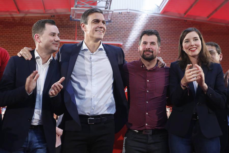 Acto electoral de Pedro Sánchez en León