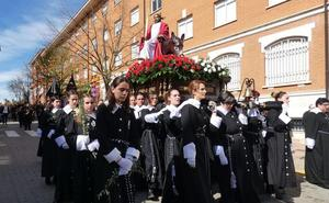 Palmas y ramos en la procesión de La Borriquilla de Coyanza