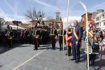 León agita las palmas en el Domingo de Ramos