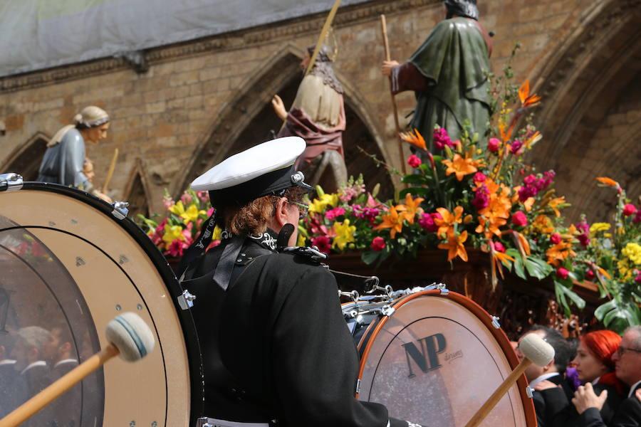 Tradicional procesión de Las Palmas en León