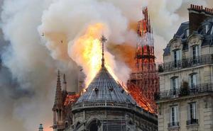 Arde Notre Dame: espectacular incendio en uno de los emblemas de París