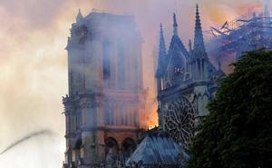 Las imágenes del espectacular incendio de Notre Dame