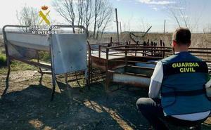 Dos detenidos por robar material valorado en 3.000 euros en dos explotaciones ganaderas de León