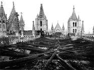 El incendio de la Catedral de León