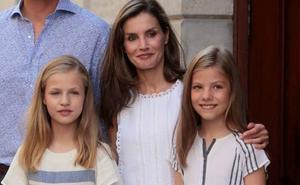La reina Letizia, en Roma con las niñas