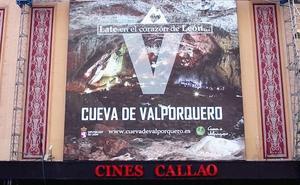 La Cueva de Valporquero se promocionará cada 10 minutos en la plaza de Callao de Madrid