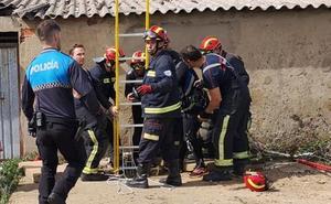 Rescatado un niño tras caer al interior de un pozo en San Andrés del Rabanedo