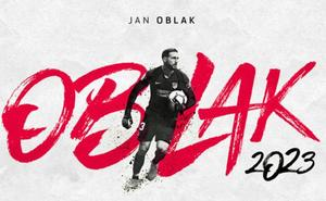 Oblak renueva con el Atlético hasta 2023