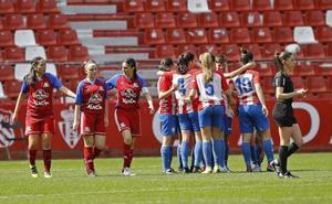 Una leonesa, protagonista del histórico derbi del fútbol femenino gijonés con cinco goles