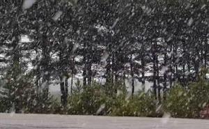 La nieve ya sorprende cerca de León capital y la situación empeorará en las próximas horas