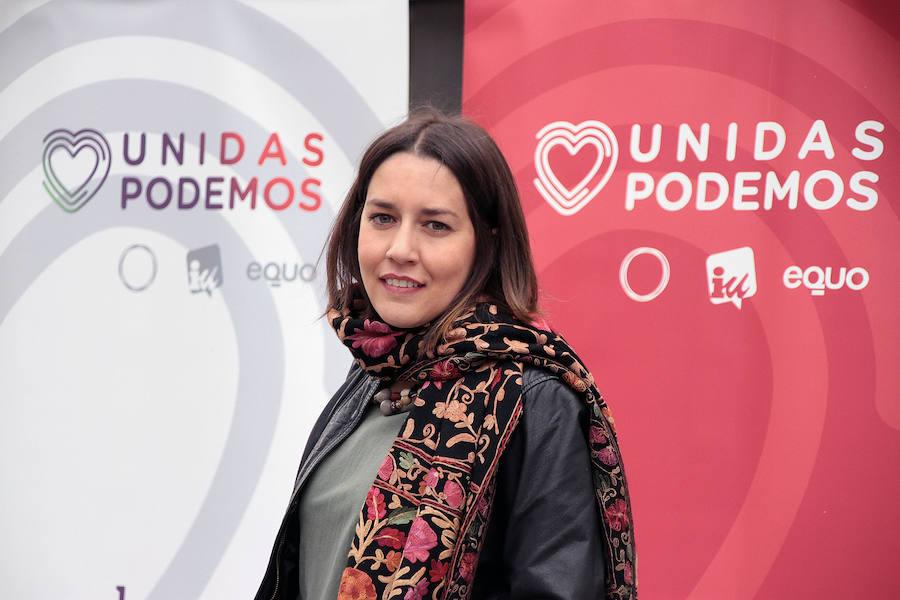 La candidata de Unidas Podemos al Congreso por León, Ana Marcello