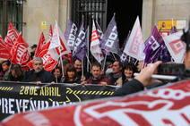 Protesta contra el repunto de la siniestralidad laboral en León