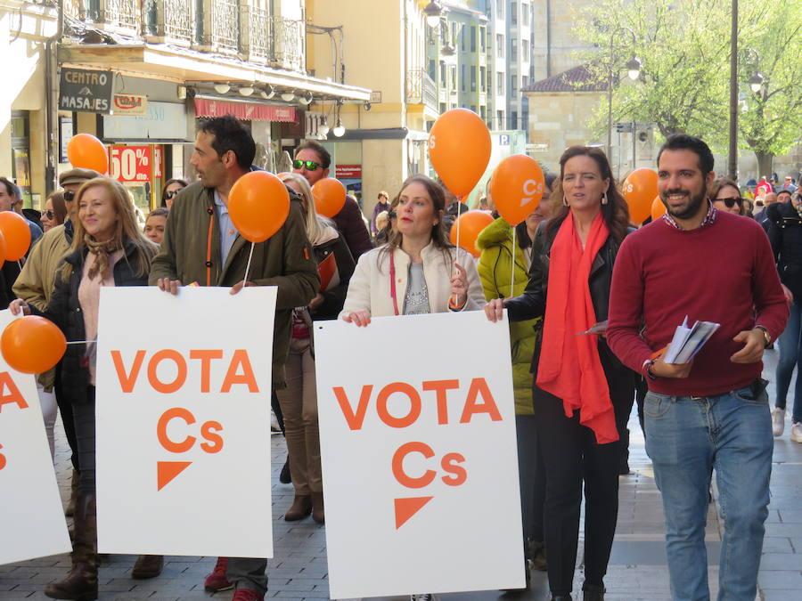 Ciudadanos despide su campaña en el centro de León