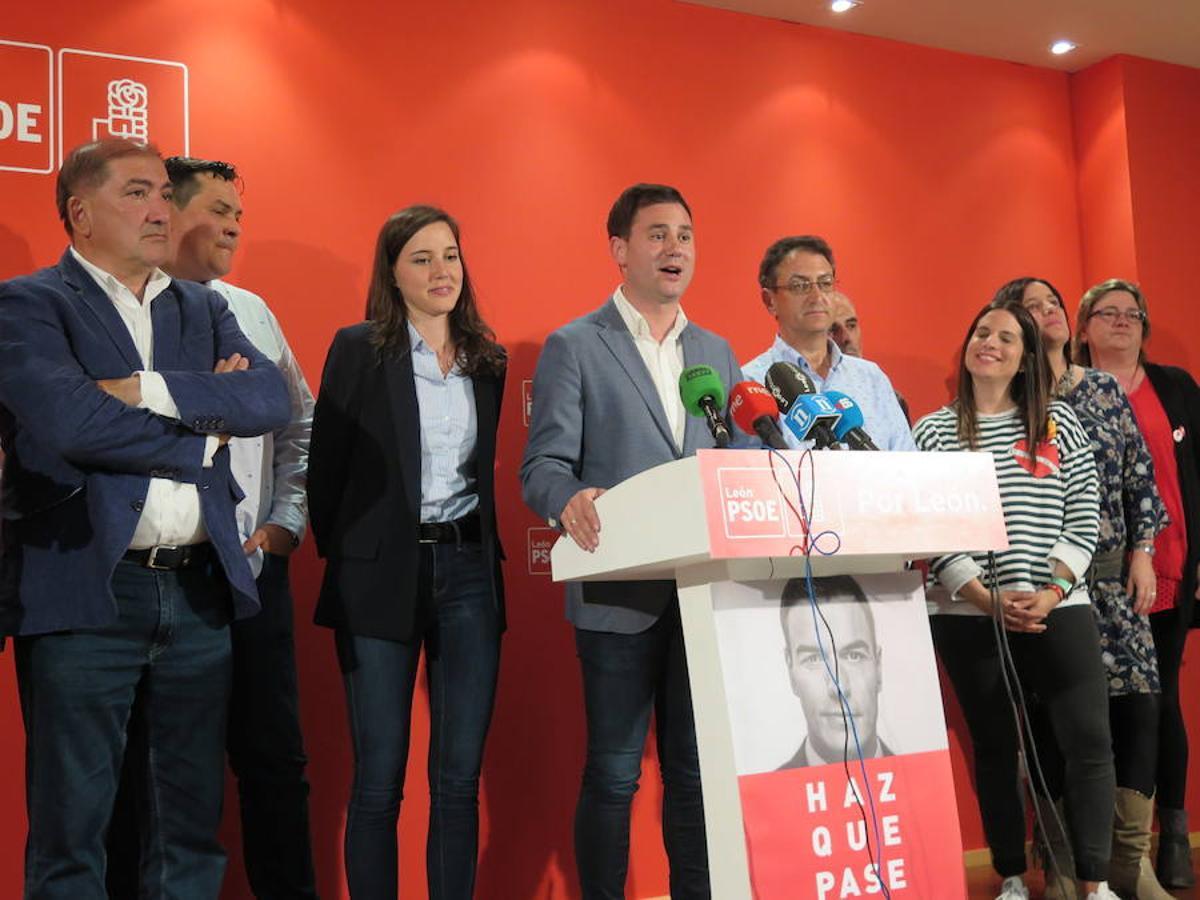 El PSOE de León, de fiesta con sus dos diputados