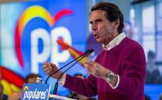 Aznar aboga por una «reconstitución» del centro derecha para no «desperdiciar» votos