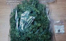 Detienen a un hombre con 330 gramos de marihuana que vendía en locales de ocio de León capital