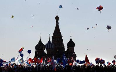 80 detenidos en Rusia durante las manifestaciones del 1 de Mayo