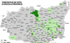 El 'efecto VOX' en la provincia: coge fuerza en Tierras de León y es residual en el Bierzo y las cuencas